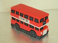 Large Red Bus Cake Topper
